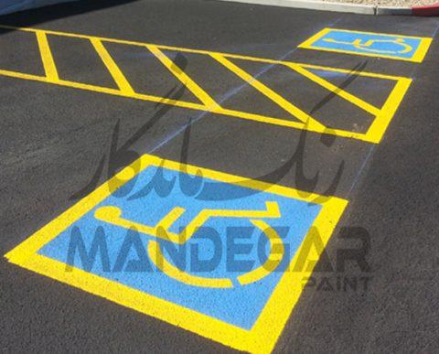 اجرای نماد ترافیکی معلولین